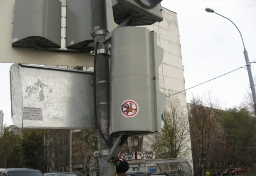 на светофоре